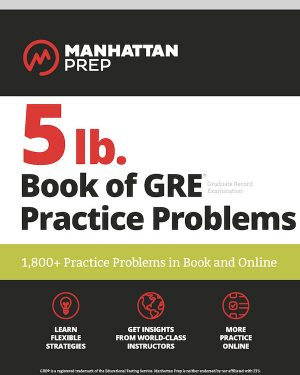 5 lb. book of gre practice problems